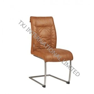 HAWAII Fabric Dining Chair With Stainless Steel Tube