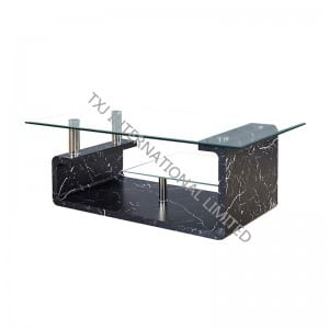 TT-1206 Tempered Glass Coffee Table With MDF Frame