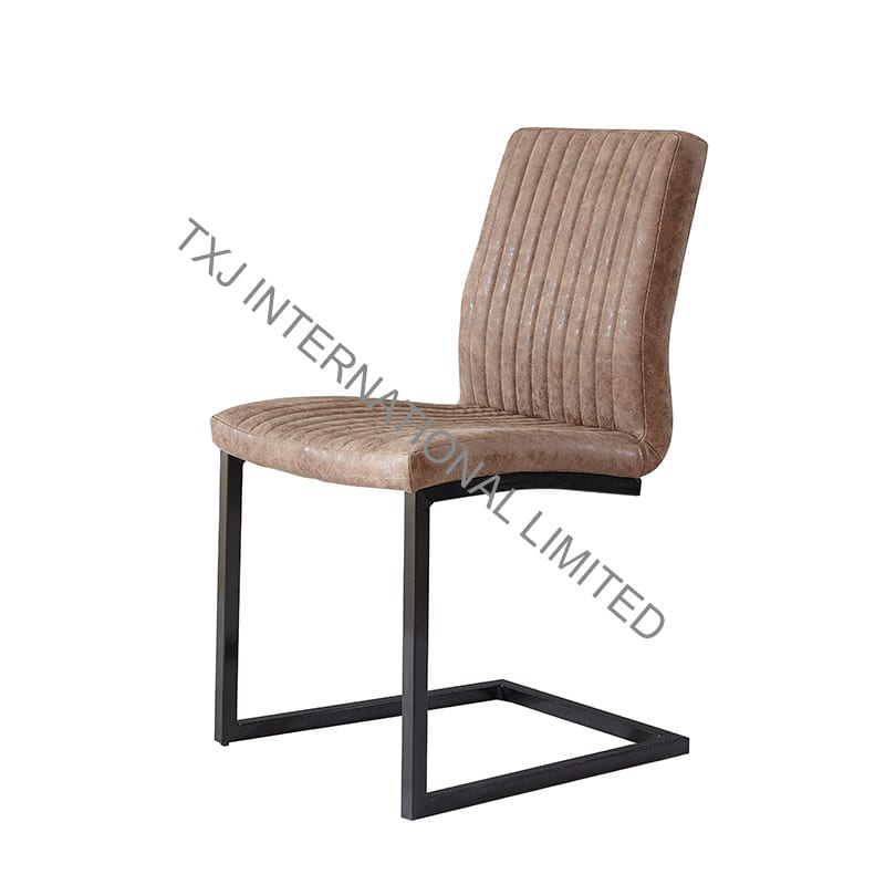BC-1762 Vintage PU Dining Chair With Black Legs Featured Image