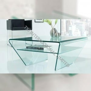 BENT-11 Bent Glass Kafe Table
