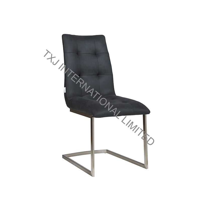 LYDIA Fabric Dining Chair With Stainless Steel Tube Featured Image