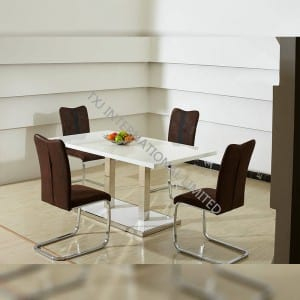 TD-1508 MDF Dining Table With 4 Chairs Set