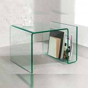 BENT-9 Bent Glass Kafe Table