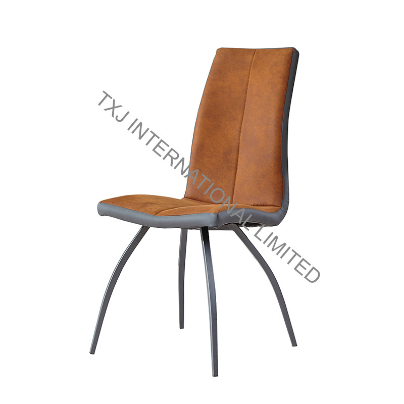 BC-1736 Fabric Dining Chair With Black Powder Coating Frame Featured Image