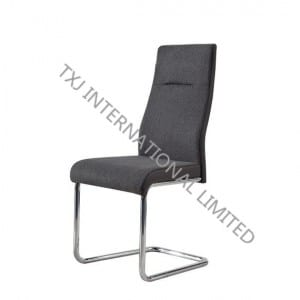 Fast delivery Restaurant Banquet Dining Chair - TC-1768 Fabric Dining Chair With Chromed Legs – TXJ