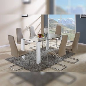 BD-1415 Tempered Glass Dining Table