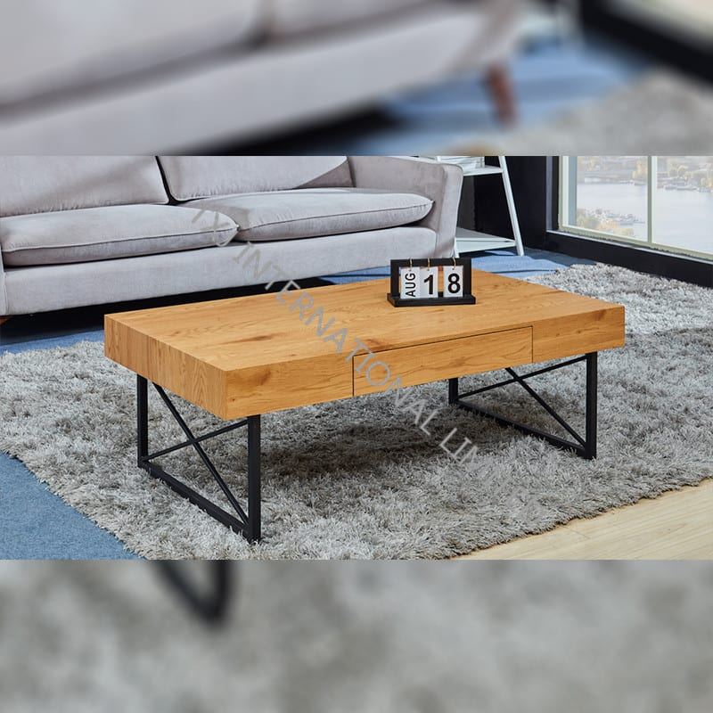 TT-1855  MDF Coffee Table Oak Color Featured Image