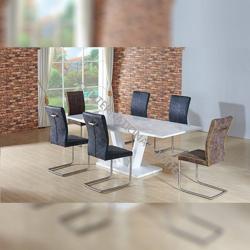 TD-1659 MDF Extension Table With High Glossy White Featured Image