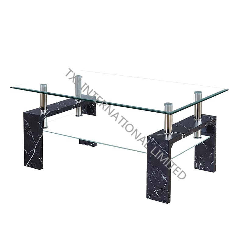 China Factory Cheap Small Round Table Focus Marbel Tempered Glass Coffee Table With Mdf Frame Txj Manufacturers And Suppliers Txj
