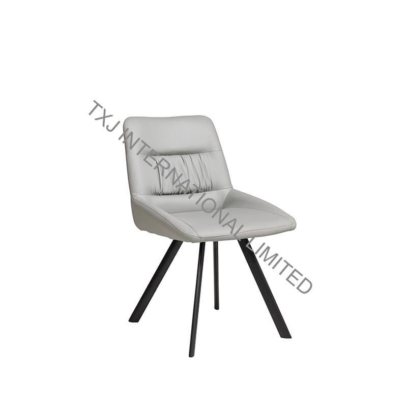 SELVA PU Dining Chair with Brushed Stainless Steel Legs Featured Image