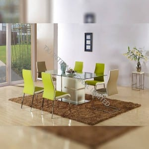 TD-1509 Tempered Glass Dining Table