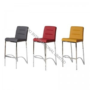 BC-1311 PU Barstool Bar Chair with Chromed Leg