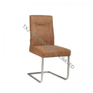 JOHNSON  Fabric Dining Chair With Stainless Steel Tube