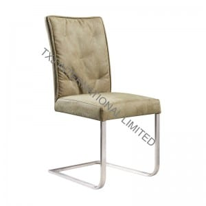 LILIA Fabric Dining Chair With Stainless Steel Tube