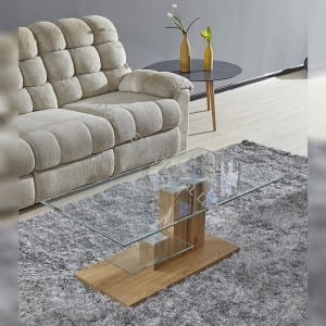 BT-1736 Tempered Glass Coffee Table With MDF Frame