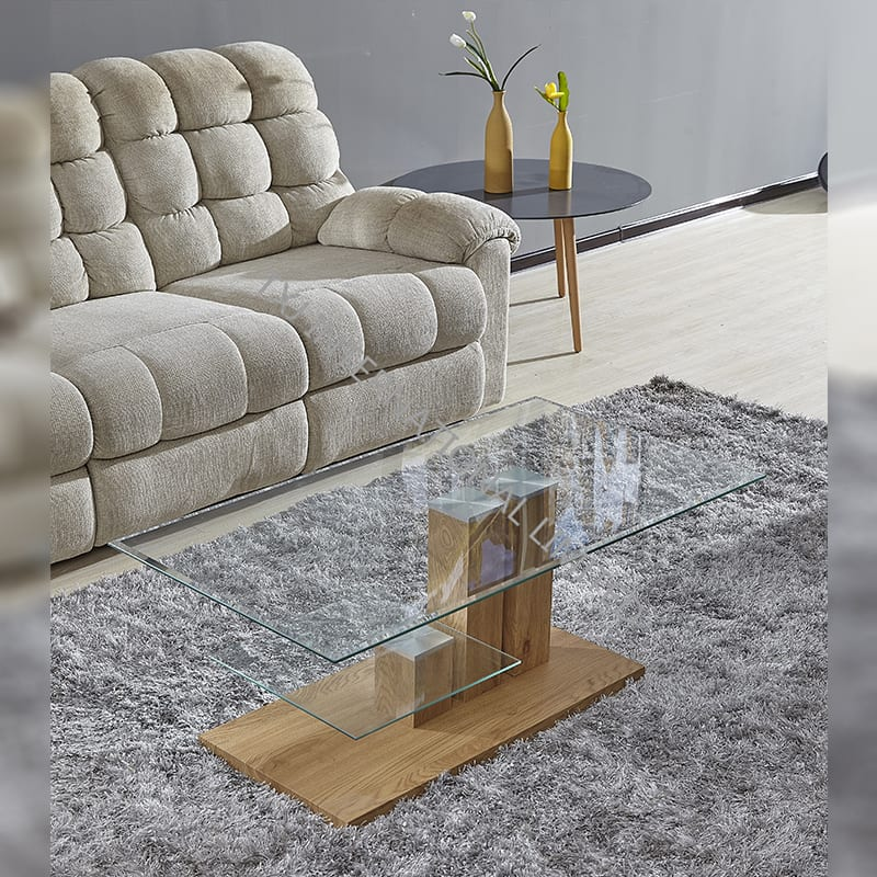 BT-1736 Tempered Glass Coffee Table With MDF Frame Featured Image