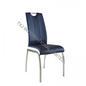 TC-1651 PU Dining Chair with Chromed Tube
