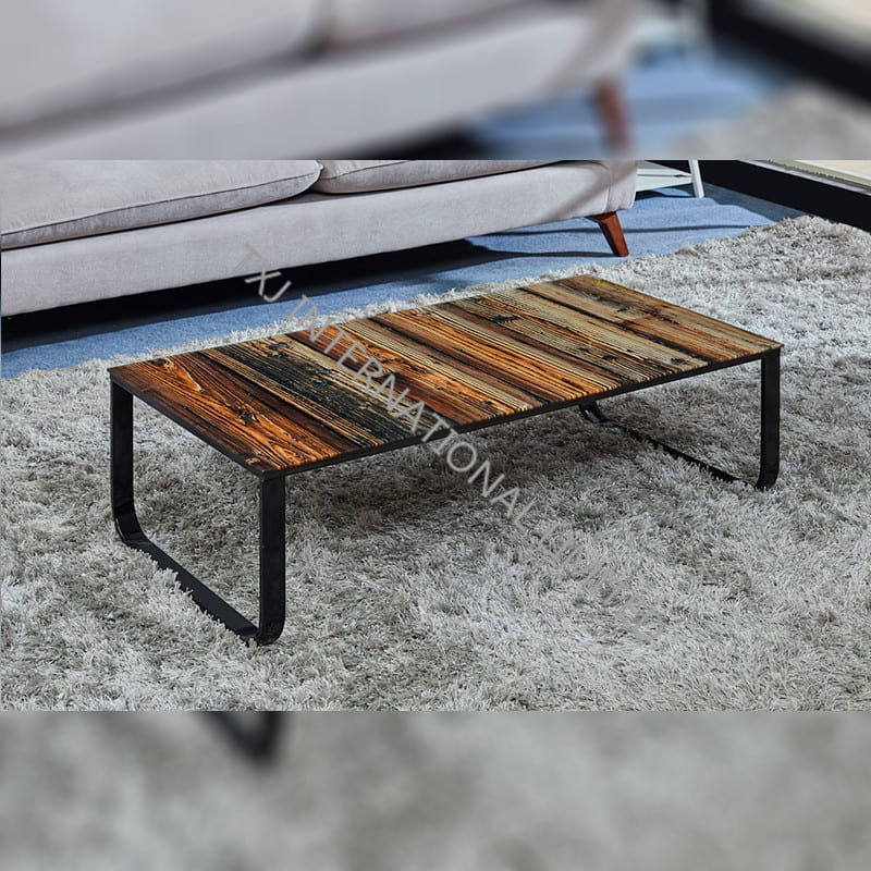 BT-1433 Tempered Glass Coffee Table With Metal Frame Featured Image