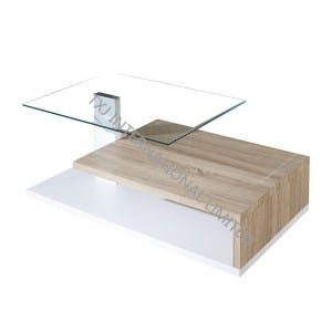 BT-1430 Tempered Glass Coffee Table With MDF Frame