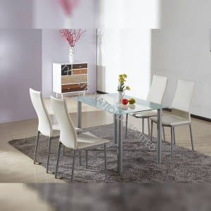 TD-2326 Tempered Glass Dining Room Table