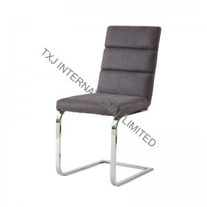 TC-1730 Fabric Dining Chair With Chromed Legs