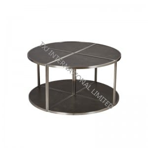 LEAF Ceramic Coffee Table With Stainless Steel Frame