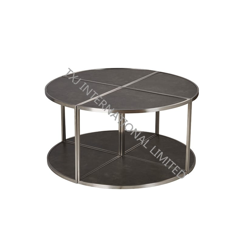 LEAF Ceramic Coffee Table With Stainless Steel Frame Featured Image