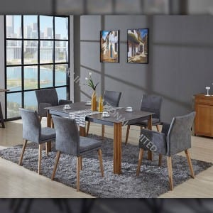 CARSEN-TABLE Tempered glass dining table with hot transfer