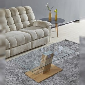 TT-1742 Tempered Glass Coffee Table