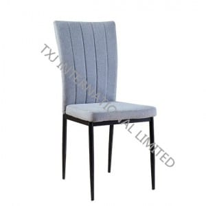 BC-1658 Fabric Dining Chair With Black Color Round Tube