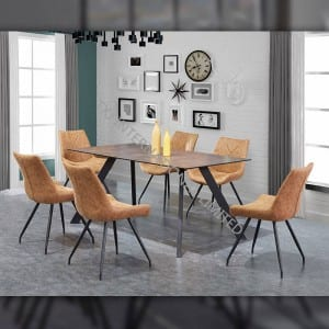 TD-1836 Tempered glass dining table