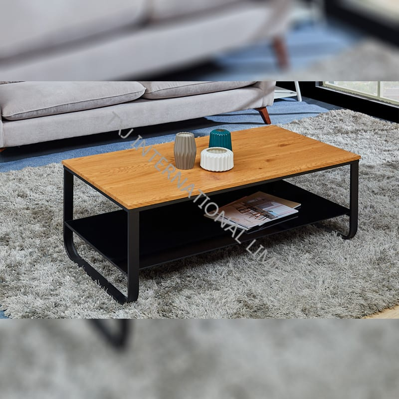 TT-1876  MDF Coffee Table Oak Color Featured Image