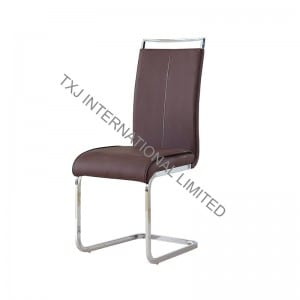 TC-1727 PU Dining Chair with Chromed Frame