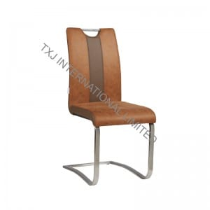 TC-1127-R Fabric Dining Chair With Stainless Steel Tube