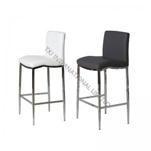 BC-1309 PU Barstool with Chromed Metal Tube