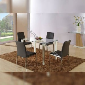 BD-1508 Tempered Glass Dining Table