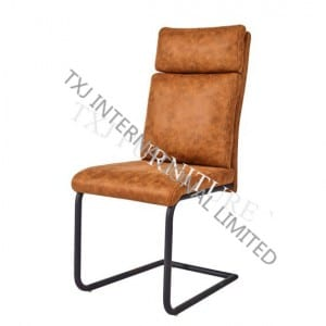 PATRICK Fabric Dining Chair With Black Powder Coating Frame