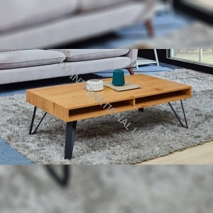 Best Price for Long Computer Desk - TT-1854  MDF Coffee Table Oak Color – TXJ