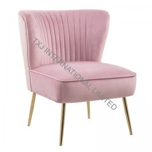 APRIL Velvet Fabric Relax Chair