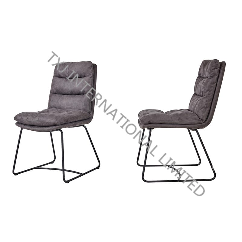 TC-1880 Hot Selling Vintage Fabric Dining chair With Black Powder Coating Legs Featured Image