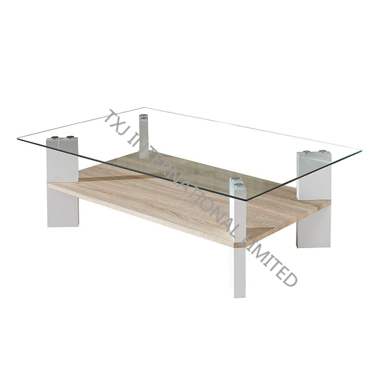 BT-1406B Tempered Glass Coffee Table With MDF Leg Featured Image