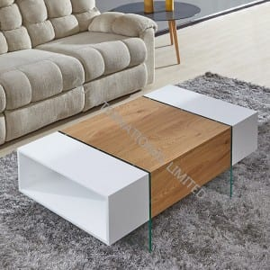 Free sample for Lcd Led Tv Stand - TT-1746 MDF Coffee Table Oak And White Color – TXJ