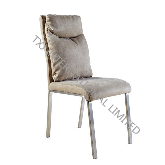 TC-1617 OEM China Europe style four chromed metal legs dining chair for dining room Featured Image