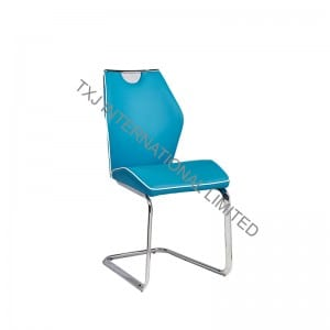 VOX PU Dining Chair With Chromed Frame