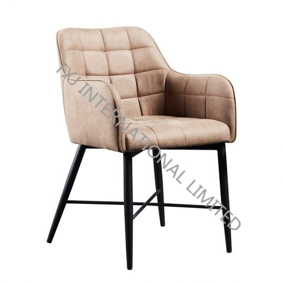 TC-1836 Fabric Arm Chair With Black Powder Coating Legs Featured Image