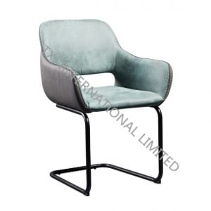 ANGEL Fabric Dining Chair Armchair With Black Powder Coating Legs