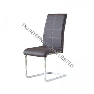 TC-1732 PU Dining Chair with Chromed Frame