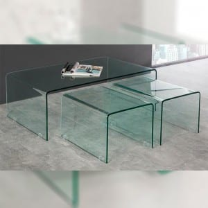 BENT-10 Bent Glass Kafe Table