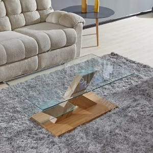 TT-1741 Tempered Glass Coffee Table