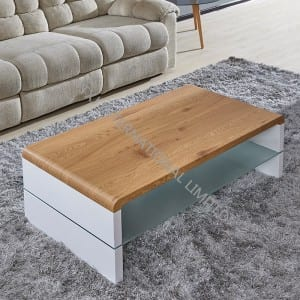 KONTEX MDF Coffee Table With Oak Paper Veneer